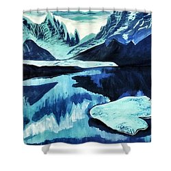Shower Curtain featuring the painting Artic Blue  by Jennah Lenae