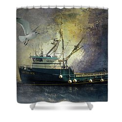 Artic Ice To Sea Shower Curtain
