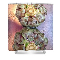 Shower Curtain featuring the photograph Artichokes In The Sink by Olivier Calas