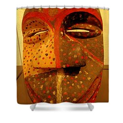 Artifact Mask Of Angola Shower Curtain