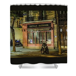 Artisan Patissier Montmartre Paris Shower Curtain