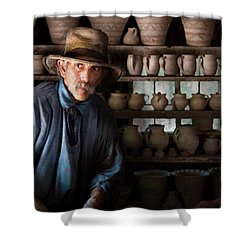 Artist - Potter - The Potter II Shower Curtain by Mike Savad