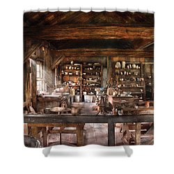 Artist - Potter - The Potters Shop  Shower Curtain by Mike Savad