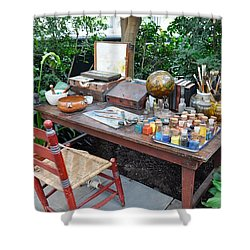 Frida Kahlo's Desk And Chair Shower Curtain
