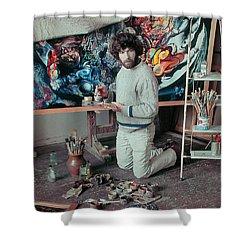 Artist In His Studio Shower Curtain