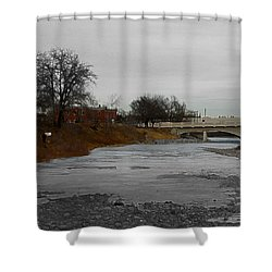Shower Curtain featuring the digital art Artist On The Bow by Stuart Turnbull