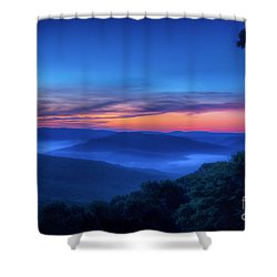 Artist Point Sunrise Shower Curtain