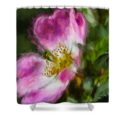 Shower Curtain featuring the photograph Artistic Dogrose 2 by Leif Sohlman