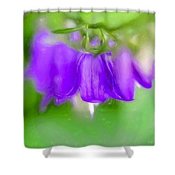 Shower Curtain featuring the photograph Artistic Harebells Or Bluebell by Leif Sohlman