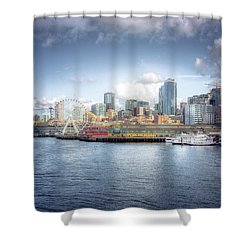 Artistic In Seattle Shower Curtain
