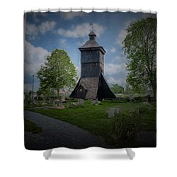Shower Curtain featuring the photograph Artistic Klockstapel - Bell Building by Leif Sohlman