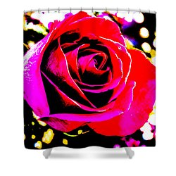 Artistic Rose - 9161 Shower Curtain by G L Sarti