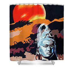 Artistic Vision Of The Almighty Shower Curtain