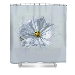 Artistic White #g1 Shower Curtain