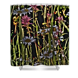 Artistic Wildflowers Shower Curtain