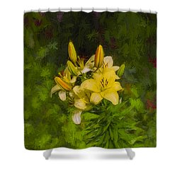 Artistic Yellow Fantasy Shower Curtain by Leif Sohlman