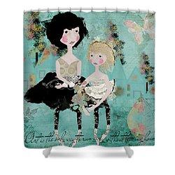 Artsy Girls Shower Curtain by Diana Boyd