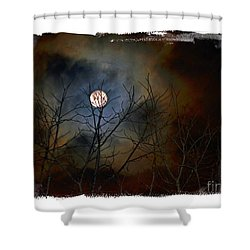 Artsy Moon Shower Curtain