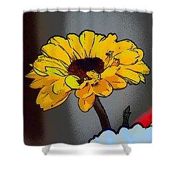 Artsy Sunshine Shower Curtain