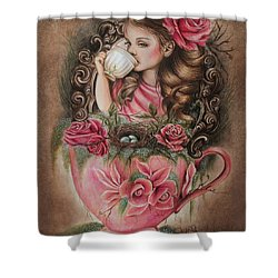 Porcelain Shower Curtain by Sheena Pike