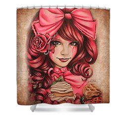 Strawberry Shower Curtain by Sheena Pike