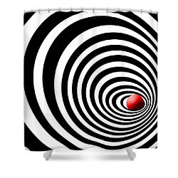 Time Tunnel Op Art Shower Curtain