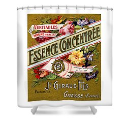 1915 Essence Concentree French Perfume Shower Curtain