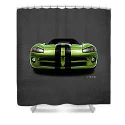 Dodge Viper Shower Curtain by Mark Rogan