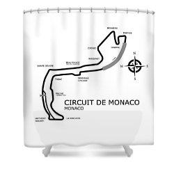 Circuit Of Monaco Shower Curtain by Mark Rogan