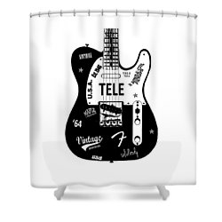 Fender Telecaster 64 Shower Curtain by Mark Rogan