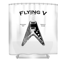Gibson Flying V Shower Curtain