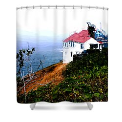 Cape Foulweather Shower Curtain by Methune Hively
