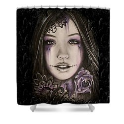 Lithium Shower Curtain by Sheena Pike