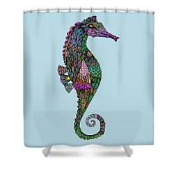 Electric Lady Seahorse  Shower Curtain by Tammy Wetzel