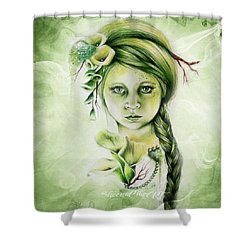 Shower Curtain featuring the drawing Cala by Sheena Pike