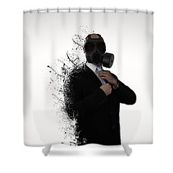 Dissolution Of Man Shower Curtain by Nicklas Gustafsson