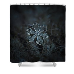 Snowflake Photo - Vega Shower Curtain