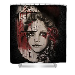 Inner Demons  Shower Curtain by Sheena Pike