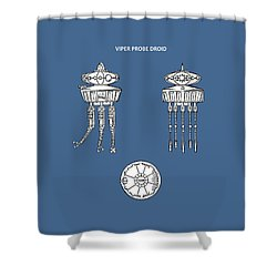 Star Wars - Droid Patent Shower Curtain by Mark Rogan
