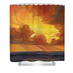 Opening Sky Shower Curtain