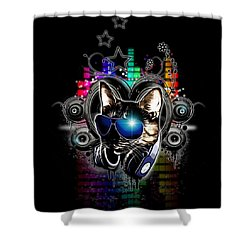 Drop The Bass Shower Curtain by Nicklas Gustafsson