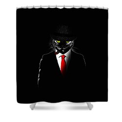 Mobster Cat Shower Curtain