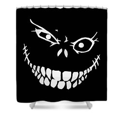 Crazy Monster Grin Shower Curtain by Nicklas Gustafsson