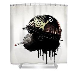 Born To Kill Shower Curtain