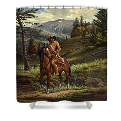 Jim Bridger - Mountain Man - Frontiersman - Trapper - Wyoming Landscape Shower Curtain