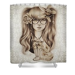 Shower Curtain featuring the mixed media Vanilla by Sheena Pike