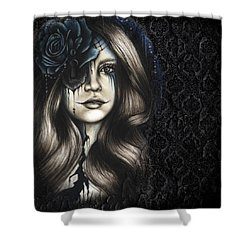 Shower Curtain featuring the drawing Betrayal by Sheena Pike