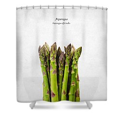 Asparagus Shower Curtain by Mark Rogan