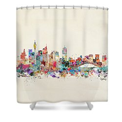 Sydney Skyline Australia Shower Curtain by Bri B