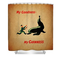 My Goodness My Guinness 1 Shower Curtain by Mark Rogan